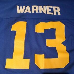 Vtg Logo Athletic NFL Los Angeles St Louis Rams  Kurt Warner #13 Jersey XL EUC