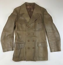 Vintage Castle Suedes Ltd Brown Soft Supple Leather Mens Coat Size 38