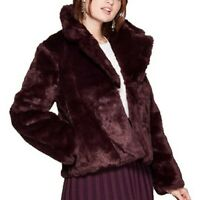 Women's A New Day Long Sleeve Faux Fur Jacket Burgundy Size Med MSRP $40