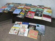 JOB LOT OF  OVER  60  ASSORTED  LP VINYL RECORDS.      FREE  DELIVERY.