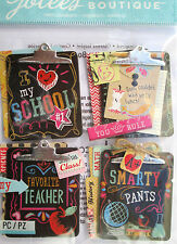 JOLEE'S BOUTIQUE CHALK CLIPBOARD School Scrapbook Craft Sticker Embellishment