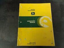John Deere Spitfire Snowmobile Operator's Manual   OM-M68220