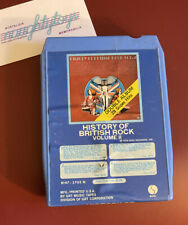 RARE 8-Track Tape HISTORY OF BRITISH ROCK Volume 2 Vtg 1974 Dave Clark 5, Kinks