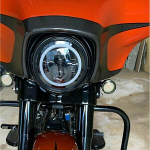 """Motorcycle 7"""" LED Headlight Lamp For Harley Street Glide Special FLHXS FLHX"""