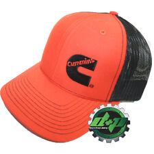 Dodge Cummins trucker hat ball mesh richardson orange black snap back cummings