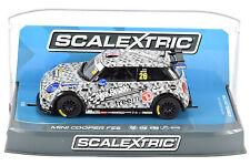 """Scalextric """"Alex Reade"""" BMW Mini Cooper F56 DPR 1/32 Scale Slot Car C3873"""