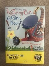 Paint Your Own Wathering Can & Garden Tools Crafts for Kids