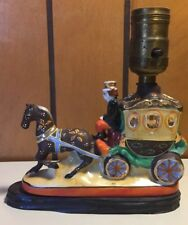 Vintage Horse Drawn Carriage Lamp Made In Japan Unique