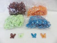 Wholesale pack of 100 Organza Gauze Glitter Butterflies 25mm x 30mm - 4 Colours