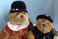 Keel Toys London UK Policeman ER & British Beefeater Yoeman Teddy Bear Plushes