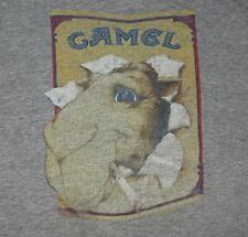 Joe Camel Vintage T Shirt Vtg 80's Tri Blend Gray Sneakers VGC Size Large Rayon