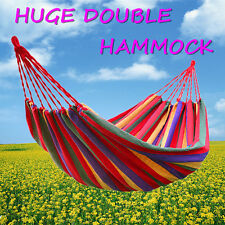 New Huge Double Cotton Fabric Hammock Air Chair Hanging Swinging Camping Outdoor