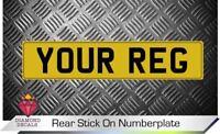 Rear Stick On Number Plate Decal Vinyl Motorsport Trailer Caravan Trailer CUSTOM