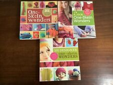One-Skein Wonders by Judith Durant book lot of 3 designer, lace knitting pattern