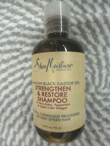 SHEA MOISTURE~~JAMAICAN BLACK CASTOR OIL~~STRENGTHEN & RESTORE SHAMPOO 3.2 OZ