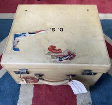 More details for rare vintage cunard white star line hat case / suitcase original labels