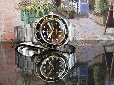 Seiko 5 SNZH57K1 FFF watch black gold vintage fifty five 55 fathoms MOD WARRANTY