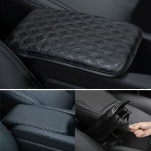 Car Center Console Box Cushion Leather Armrest Elbow Pad Trim Cover Accessories