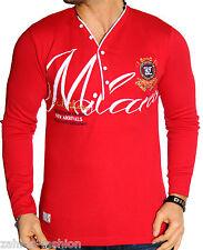 hombre sudadera con capucha manga larga camisa diseño camiseta Milano ITA NUEVO