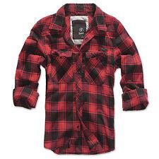 Brandit Check Shirt Hemd viele Farben S-7XL Flanell Woodcutter Karo Freizeithemd
