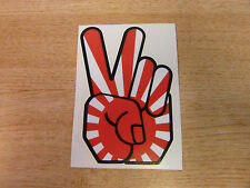 Peace Hand - sticker bomb / rat look - decal 4in (100mm) - Japan Rising Sun JDM