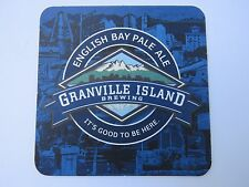 Beer Coaster ~ GRANVILLE ISLAND Brewing English Bay Pale Ale ~ VANCOUVER Brewery