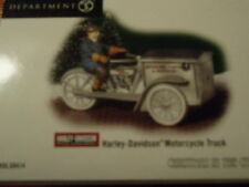 Dept 56 Christmas In The City Accessory Harley-Davidson Motorcycle Truck Nib