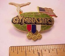 Gymnastics Participant Usa Flag World Globe 3 Medals 1999 Margarita Enamel Pin