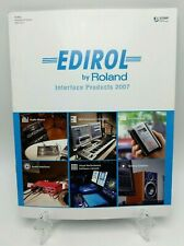 ROLAND EDIROL CATALOG 2007 - inc mixers keyboards audio  M-16DX, M-10DX