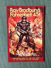 Ray Bradbury - Signed -  Fahrenheit 451 - Theatre Card  2008