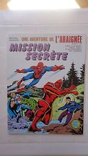 AVENTURE DE L'ARAIGNEE SPIDERMAN N°22 LUG SUPER HEROS 1984 MISSION SECRETE