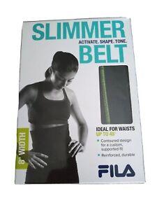 """Fila Accessories Waist Slimmer Trimmer Belt Unisex 8"""" Width Abs Up to 45"""",  0011"""