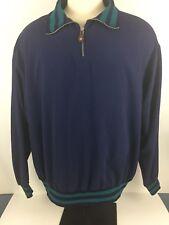 Duck Head Tour Navy Blue Golf 1/4 Zip Pullover Long Sleeve Windbreaker Xtr Large