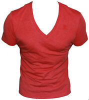 New G-Star Raw Mens V-Neck T-Shirt in Red Oil Colour Size XXL