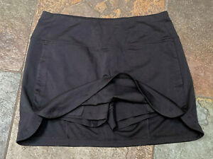 0621 ATHLETA Medium Black Hands & Back Pocket Wide Waist Band Skort #305663 B