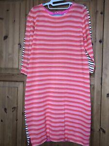 sonia rykiel Mulit Coloured Stripe Cotton Knitted Dress  Size M