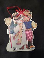 New ListingMary Engelbreit Wood Christmas Ornament Snowman Design