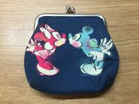 Disney Mickey Mouse Purse Minnie Mouse Coin Purse Collectable Blue