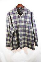 Eddie Bauer Legend Mens Thick Heavy Flannel Shirt Size Small Cotton Plaid