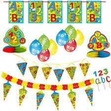 XXL Deko Tisch Set Schulanfang Einschulung Schuleinführung Girlanden Luftballons