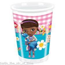 DOC MCSTUFFINS Girls Birthday Supplies Cup Tableware Party CUPS x8