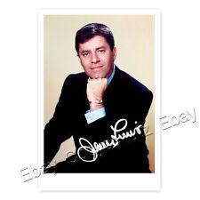 Jerry Lewis-Hollywood star-Autografo foto carta laminato (ak1)