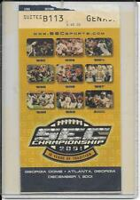 2001 SEC CHAMPIONSHIP TICKET DECEMBER 8, 2001 GEORGIA DOME LSU 31 TENNESSEE 20