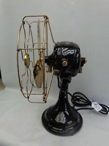 """Antique GE BMY fan 12"""" brass blade & cage Vintage 1910 older restoration nice"""