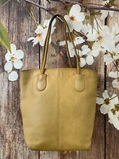 COACH Vintage Small Brown Leather Lunch Tote Handbag 7304