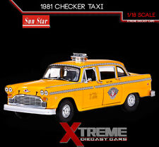 SUNSTAR SS-2501 1:18 1981 NEW YORK TAXI CHECKER CAB