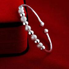 Fashion Women's 925 Silver Plated Crystal Rhinestone Bangle Cuff Bracelet Gift 02