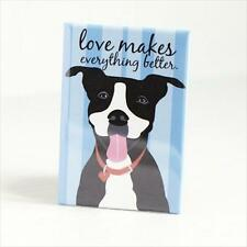Pit Bull Love Blue Heavy Duty Art Magnet - Free Shipping ASAP - Pitbull Dog