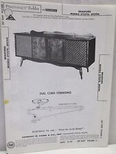 Vintage Sams Photofact Folder Radio Parts Manual Bradford 57257D 89219A Record