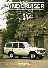 Toyota Land Cruiser 4.0 Diesel 5-dr 1983-84 UK Market Foldout Sales Brochure